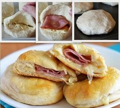 Stuffed Ham and Cheese Biscuits