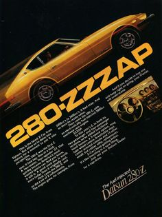1977 Datsun Car Ad Yellow Z-Car Sports Car Photo Vintage Nissan Auto Advertisement Print Garage Wall Art Gift for Him Automotive Decor by AdVintageCom on Etsy Datsun Car, Datsun 240z, Nissan Z Cars, Nissan Auto, Classic Japanese Cars, Car Brochure, Yellow Car, Car Advertising, Old Ads