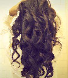Kim Kardashian Hair - Curls - Tutorial #hairstyles #hair