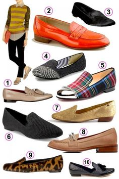 Women's Look of the Week: 10 Bold Loafers for Bay City Walking