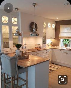 Kitchen Room Design, Modern Kitchen Design, Home Decor Kitchen, Kitchen Interior, Home Interior Design, Home Kitchens, Open Plan Kitchen, New Kitchen, Cute Diy Room Decor