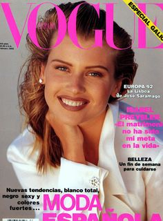 1992 Vogue Cover  early 90's make-up