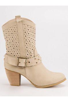 Nízke béžové čižmy Mazzoni Biker, Platform, Ankle, Shoes, Fashion, Moda, Zapatos, Wall Plug, Shoes Outlet