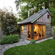 Megan Lea's Backyard House, built out of recycled barnboard with copper roofing. Description from pinterest.com. I searched for this on bing.com/images
