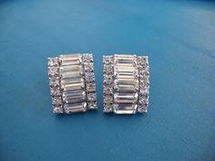 Vintage Weiss Art Deco Clear Rhinestone by CrimsonVintique on Etsy, $60.00