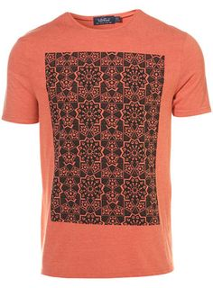 Peach Moroccan Print t-shirt from Topman