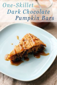 If there's one thing we want on our menu this fall, it's these dark chocolate pumpkin bars. The recipe is so simple you'll only need one-skillet to make it at home! It'll only take you about 30 minutes to prep and cook this sweet treat.