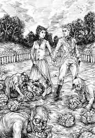 Image result for pride and prejudice zombies book art