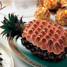 Piña merengada de frambuesa