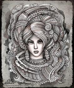 Kleurplaat Sterrenbeeld-Horoscoop *Colouring Pictures Zodiac ~6: Kreeft 22-06/23-07 *Cancer~ (van Olka Kostenko)