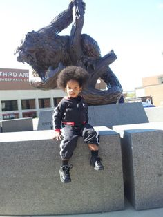 Future Bearcat posing in front of the Bearcat statue on the University of Cincinnati campus! #ProudlyCincinnati at all ages... Go #Bearcats!