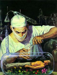 The sinister street lamp: pulp art of the day