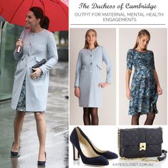Duchess of Cambridge outfit for a series of maternal mental health engagements