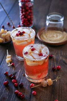 This post is sponsored by the Cranberry Marketing Committee in partnership with the Healthy Aperture Blogger Network. A classic dark and stormy cocktail, spruced up with homemade cranberry simple s…