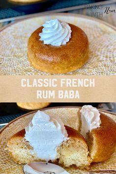 Classic French Rum Baba Baba Recipe, Donut Tray, Good Rum, French Apple Cake, Vanilla Paste, Pastry Shop, French Food, Cake Batter, Sweet Cakes