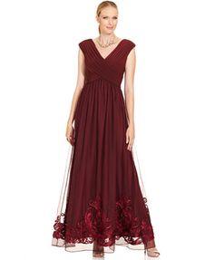 Patra Dress, Sleeveless Pleated Soutache Gown