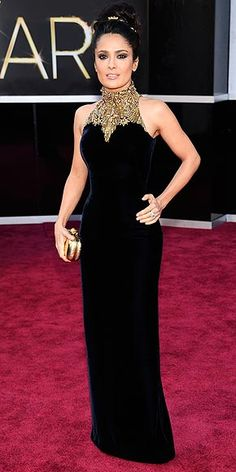 Salma Hayek in Alexander McQueen at the Oscars