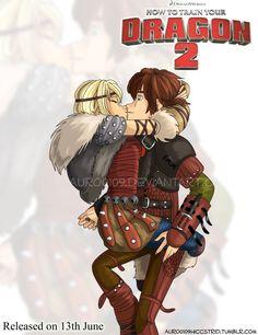 Astrid Kissing Hiccup by Auro0109.deviantart.com on @deviantART