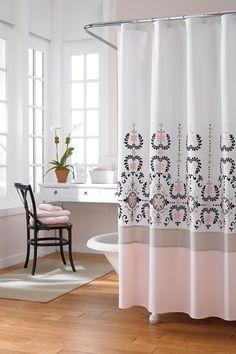 laura ashley bathroom LOVE The shower curtain for evers bathroom