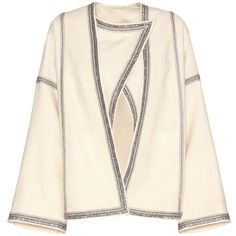 Isabel Marant Benett Wool Jacket ($2,410) ❤ liked on Polyvore featuring outerwear, jackets, neutrals, cream jacket, wool jacket, isabel marant, isabel marant jacket and pink jacket