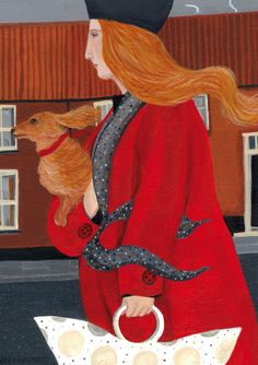 'Dashing Into Town' By Painter Dee Nickerson. Blank Art Cards By Green Pebble. www.greenpebble.co.uk