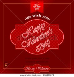 """Happy Valentine's Day background with heart logo and """"Be my valentine"""", """"I love you"""" text.  - stock vector"""