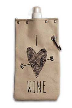 toteable: Heavy weight cotton canvas cover with a BPA free leak proof and airtight liner which holds a 750 ml/25 oz bottle of wine.  specification: Holds a full 750 ml/25 oz bottle of wine or your favorite beverage. Our canvas canteens are USA made using rugged cotton canvas construction and design forward graphics. With a nod toward utility we use rivets grommets and an aluminum carabiner which attaches our canteen to your belt backpack bike purse or market bag. Expels oxygen to preserve…