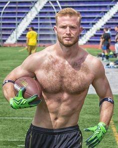 Hairy Men, Bearded Men, Hairy Hunks, Ginger Men, Blonde Guys, Hommes Sexy, Hairy Chest, Muscular Men, Athletic Men