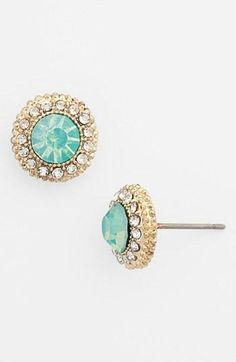 #sparkle #stud #earrings #gold #aqua