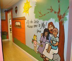 bible murals for classroom walls | ... New Testament Baptist Church in Vinton with murals of Bible stories