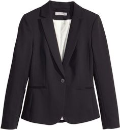 H&M Fitted Blazer - Black - Ladies on shopstyle.com