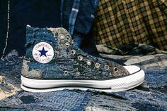 41435c906a64  CONVERSE×Sashiko boro  This time is a normal print logo. 今回は