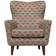 John Lewis midcentury-style Thomas armchair in a dog print fabric.  Combines two of my loves; mid-century design and dachshunds.  What could be better?!
