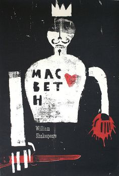 Illustration by Ben Jones. I really love how gritty this cover is; I think it's the sort of illustration Shakespeare would want if he was around now. Best Book Covers, Vintage Book Covers, Book Cover Art, Book Cover Design, Book Art, Vintage Books, Macbeth Book, Macbeth Poster, Design Visual