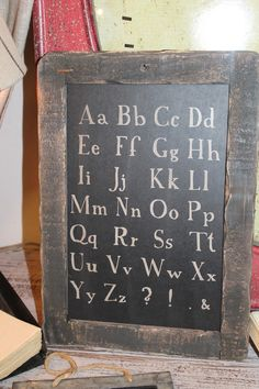 A B C... love this for homeschooling room