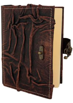 Wrinkled Pattern Medium Brown Leather Bound Journal Notebook Diary MO136 | eBay