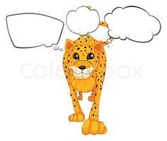 Cartoon Leopard Tattoo Design | Tattoobite.com
