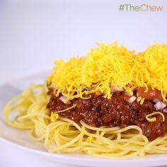 Michael Symon's Cincinnati Chili with Spaghetti! #TheChew