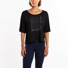 Throw this top on when you finish your workout. It's a perfect light-weight piece to layer over your tank and leggings.