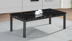 Coffee table MDF chipped wood Coffee Table in Black Brown Cream Metal | Big House Furniture