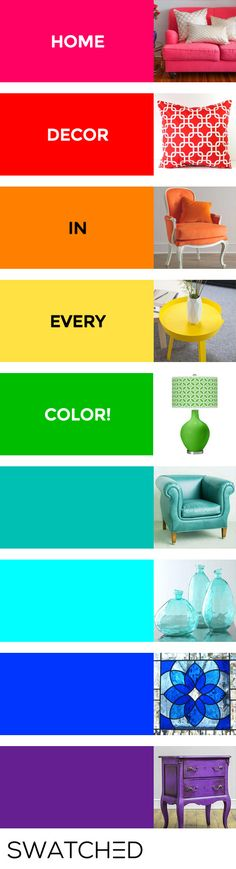 Browse home decor by ANY color! | Swatched