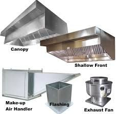 parts of a commercial kitchen hood