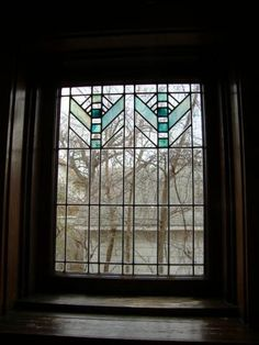 """This is one of eight (?) stained glass windows in the """"endangered"""" Double House at 4018 Ingersoll, Des Moines"""