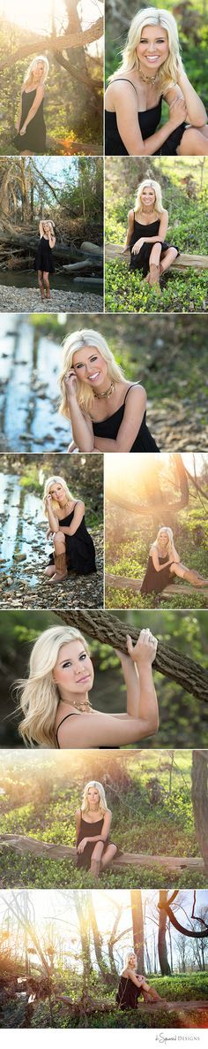 Spring Senior Session. Beautiful senior. Senior girl photography. Spring location by creek. d-Squared Designs St. Louis, MO Senior Photography