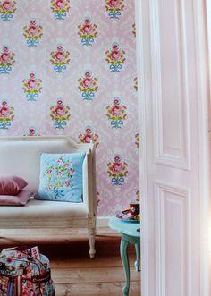 Pip Studio Shabby chic pink wallpaper