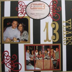 scrapbooking  anniversy page layouts | Stamping Block: Anniversary Scrapbook pages