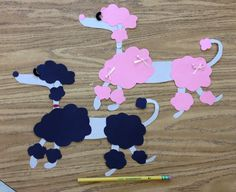 French poodle art / craft project for France unit. (Adapted from a picture in the Internet)