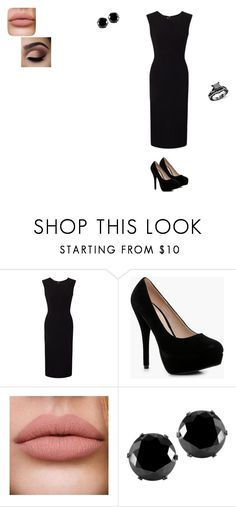 """Dinner"" by moonchild123452017 on Polyvore featuring Roland Mouret, Boohoo and West Coast Jewelry"