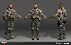 ArtStation - Ruin- Call of Duty: Black Ops 4 Mike Curran 3d Model Character, Game Character, Character Concept, Concept Art, Rainbow Six Siege Art, Black Ops 3, Future Soldier, Call Of Duty Black, Sci Fi Characters