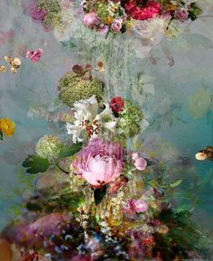 Isabelle Menin - Sinking - Floral still life contemporary photography For Sale at Floral Photography, Still Life Photography, Abstract Photography, Art And Illustration, Art Floral, Modern Art, Contemporary Art, Contemporary Photographers, Art Fair